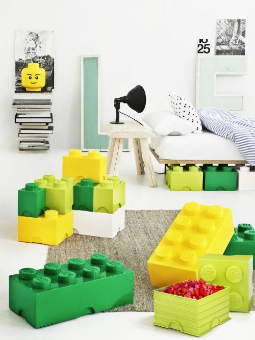 LEGO Brick 4 Storage, Aufbewahrungsbox, orange