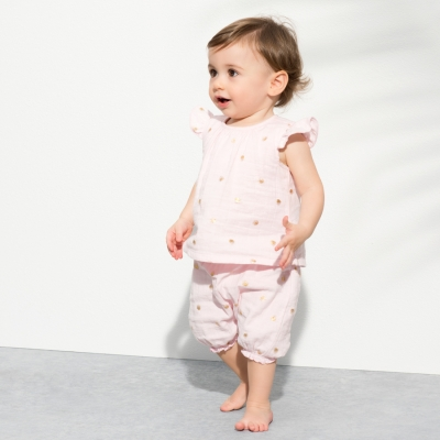 Aden Anais Bubble Shorts - Metallic Primrose Water