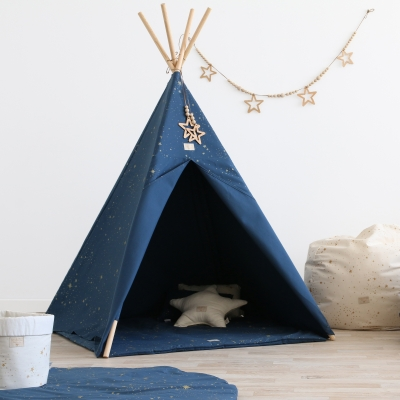 NOBODINOZ Tipi-Zelt Phoenix, Gold Stella/ Night Blue