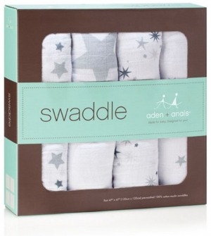 Aden Anais Mulltuch Swaddles, 4er-Pack - Twinkle
