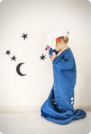 Snoozebaby Schlafsack mit Ärmel, indigo blue