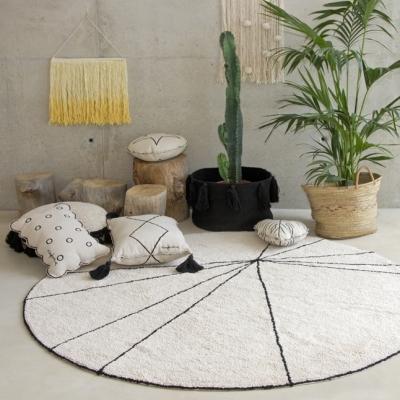 Lorena Canals Kinderteppich,Washable Rug Trace Beige Ø 160 cm
