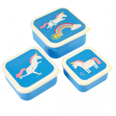 Rex London Set 3 Snack-Dosen, Magical Unicorn