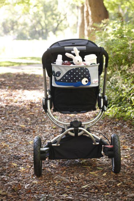 3 Sprouts Kinderwagentasche, Wal