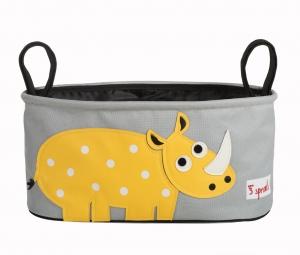 3 sprouts Kinderwagentasche, Nashorn