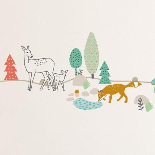 MIMIlou Wandsticker Bordüre 5 m, Woods