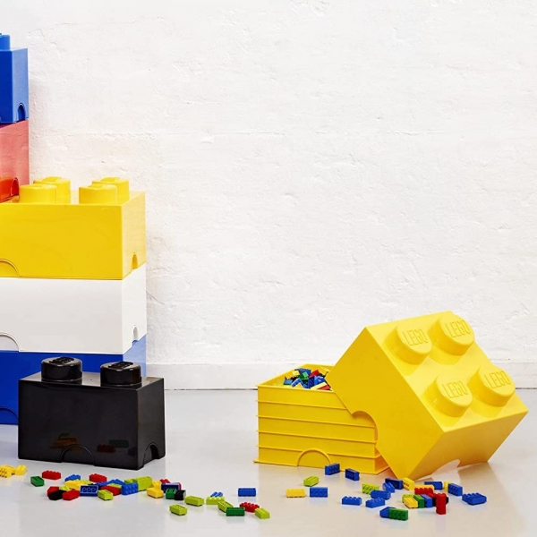 LEGO Brick 4 Aufbewahrungsbox, gelb