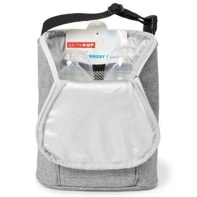 Skip Hop Double Bottle Bag, Grey Melange