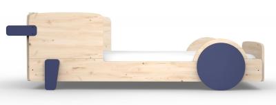 Mathy by Bols Montessori Discovery Einzelbett, Zementgrau