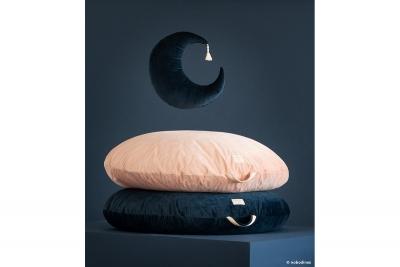 Nobodinoz Velvet Kissen Mond, night blue