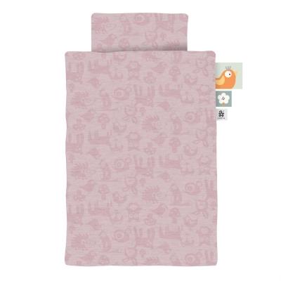 Sebra Baby-Bettwäsche, Forest, blossom pink