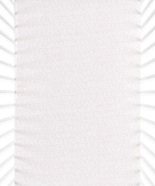 Snüz Fixleintuch Spannbettuch bis max. 70x140 cm (2er Pack), Wave Rose - Dash