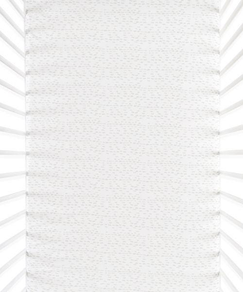 Snüz Fixleintuch Spannbettuch bis max. 70x140 cm (2er Pack), Wave Mono - Dash