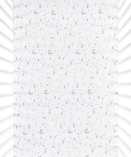 Snüz Fixleintuch Spannbettuch bis max. 70x140 cm (2er Pack), Geo Breeze - Triangles