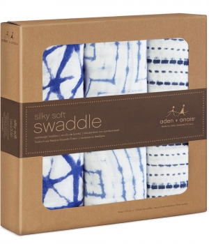 Aden Anais Silky Soft Swaddles, 3er-Pack - Indigo
