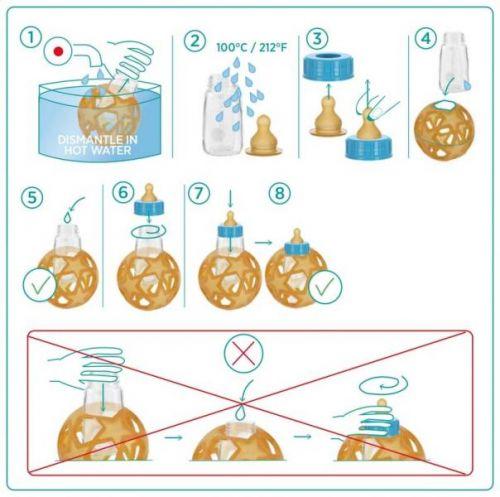 Hevea Trinksauger für Babyflasche, 2er Pack, 3+ Monaten