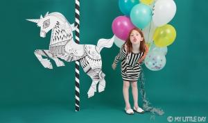 My Little Day Luftballone aus Latex, 5 Stk. - Confetti Blau