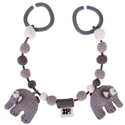 Sebra Kinderwagenkette, Elefanten Grau