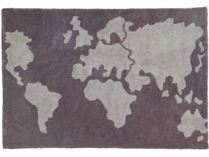 Lorena Canals Kinderteppich, World Map 140 x 200 cm