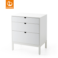 STOKKE Home Kommode Dresser, White