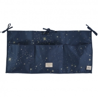 NOBODINOZ Betttasche Merlin, Gold Stella/ Night Blue