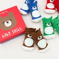 Rex International 4 Paar Baby Socken, Bär