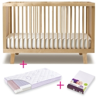 Oeuf NYC Sparrow Babybett in Birke - Special Set