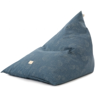 Nobodinoz Sitzsack Zen, Gold Bubble/ Night Blue
