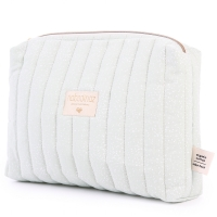 NOBODINOZ Windeltasche Vanity Case - White Bubble/ Aqua