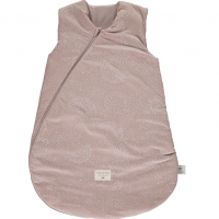 Nobodinoz Schlafsack Cocoon, White Bubble/ Misty Pink