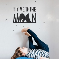 MIMIlou Wandsticker, Fly Me To The Moon