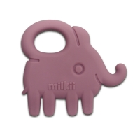 Milkii Silikon Beissring Elefant, Dusty Rose