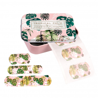 Rex London Pflaster-Set (30 Stück) in Metalldose, Tropical Palm