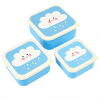 Rex London Set 3 Snack-Dosen, Happy Cloud
