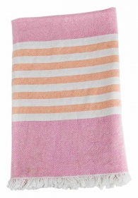 Lulujo Kinder Strand Badetuch - Passion Pink & Apricot