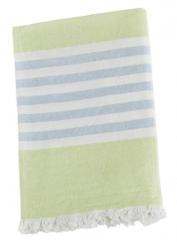 Lulujo Kinder Strand Badetuch - Lime Green & Blue