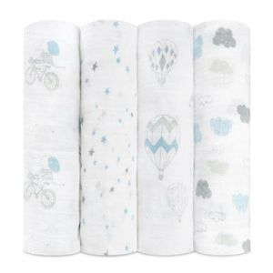 Aden Anais Mulltuch Swaddles, 4er-Pack - Night Sky - Reverie