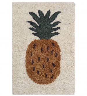Ferm Living Fruitiana Wolle-Teppich, 180 x 120 cm - Ananas