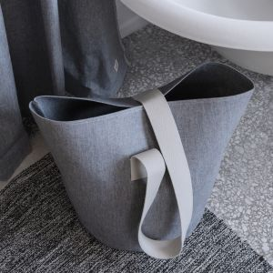 Ferm Living Wäschekorb Chambray Blue, gross