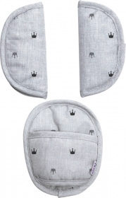 Dooky Universal Pads, Light Grey Crowns