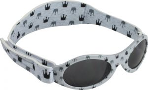 Banz Baby Sonnenbrillen Dooky Light Grey Crowns, 0-2 Jahre