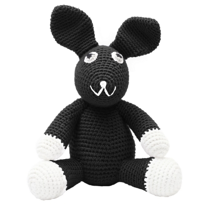 NatureZoo of Denmark Kuschelstricktier, Black Rabbit