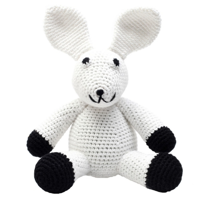 NatureZoo of Denmark Kuschelstricktier, White Rabbit