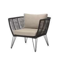 Bloomingville Lounge-Sessel Outdoor, Metall Schwarz