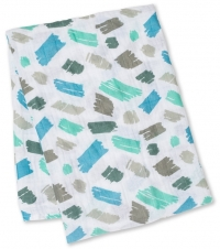 Lulujo Muslin Swaddle Mulltuch - Scribbles (Designer Collection)