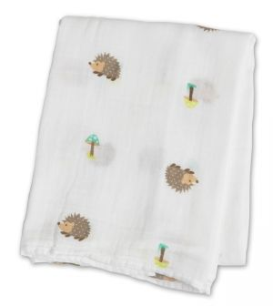 Lulujo Muslin Swaddle Mulltuch - Happy Hedgehog