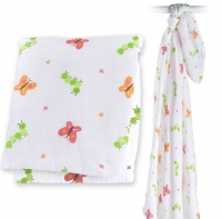 Lulujo Muslin Swaddle Mulltuch - Garden Party