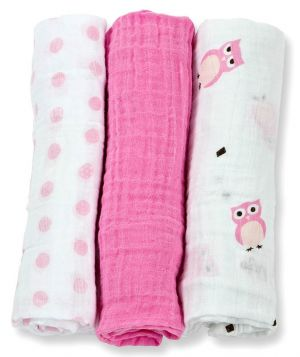 Lulujo Muslin Mulltuch 3er Pack - Owl Always Love You