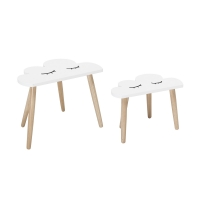 Bloomingville Kindertisch Wolke, 2er Set