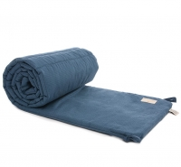 NOBODINOZ Nest Cot Bumper Bettnestchen, Honey Comb Night Blue